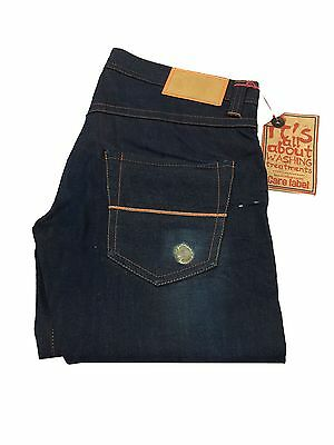CARE LABEL men's jeans style ORANGE ANTIFIT 100 % cotone MADE IN ITALY