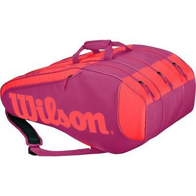 Wilson Burn Team 12 Tennis Racket Bag (Pink) RRP £80