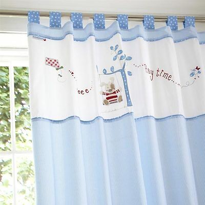 Izziwotnot Time To Play Petit Henri Tab Top Lined Curtains, 132 x 163 Cm