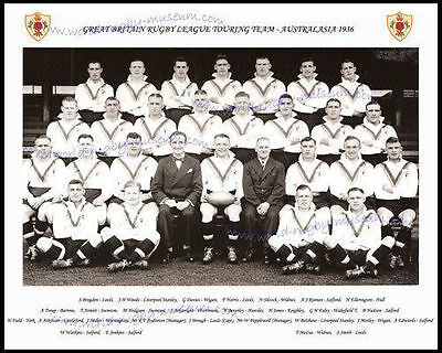 Great Britain Rugby League 1936 Tour Team Photograph