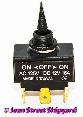 Marine Boat RV DPDT sealed  Toggle Switch 6 terminal 3 Position On-Off-On 12021