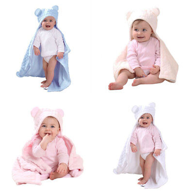Clair de Lune Marshmallow Teddy Bear Ears Hooded Blanket