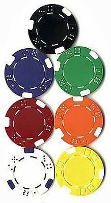 125 Double DICE Striped POKER CHIPS SET 11.5 gram Choose Your Colors 7 Choices