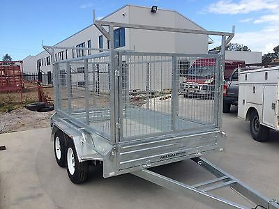 NEW 10x5 TANDEM TRAILER 10x5 galvanised    LADDER RACKS OFFROAD TYRE OPTIONS