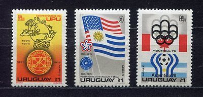 s5468) URUGUAY 1975 MNH** World Cup Football - Coppa del Mondo Calcio 3v.