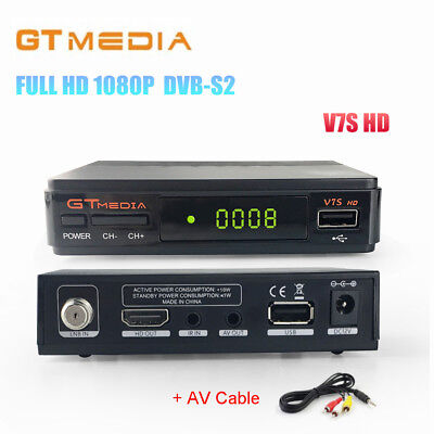 GTMEDIA V7S HD 1080P Set Top Box DVB-S2 HD TV Receiver Support PowerVu,YouTube