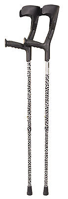 Deluxe Patterened Forearm Crutches  (Pair)