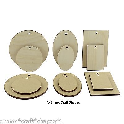 3mm MDF or 4mm birch ply, wooden round disc, oval, rectangle key fob craft blank