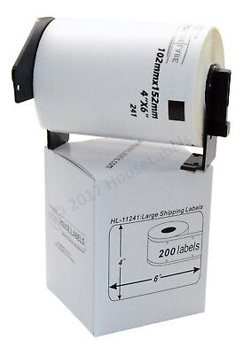 1 roll of DK-1241 Brother-Compatible Shipping Labels with 1 Reusable Cartridge