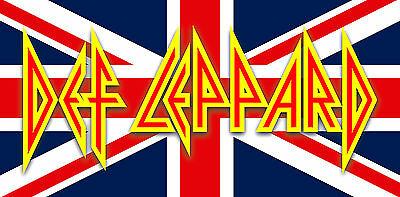 "5"" DEF LEPPARD vintage 1980's style, vinyl bumper sticker. Rock of Ages for bong"