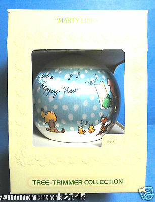 """Hallmark """"Marty Links"""" Ball Tree Trimmer Ornament Dated 1980"""