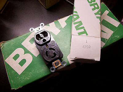 Bryant(HARD TO FIND) ComboTwist-Lock &Standard Outlet Receptacle #4792 15Amp(2a)