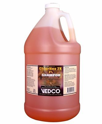 Vedco ChlorHex 2X 4% Antiseptic Pet Shampoo Chlorhexidine  Dog Cat Horse 1Gallon