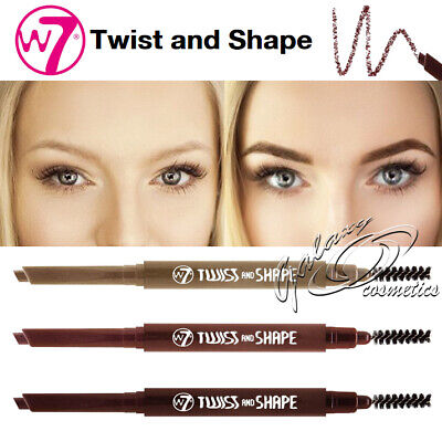 W7 Twist & Shape Twister Angled Eyebrow Pencil & Brow Comb Brush Shaping Definer