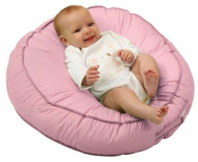 Infant Seat Lounger Podster Sling Style Pink Pin Dot Cushion Newborn Baby Pillow