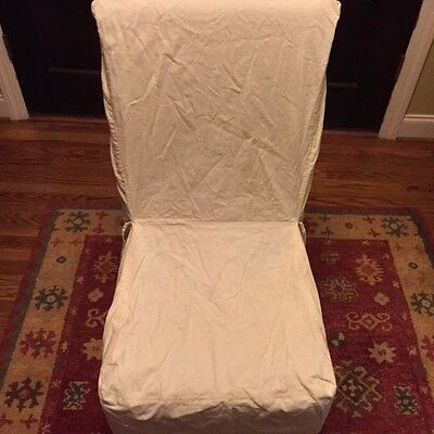 Remarkable Pottery Barn Dining Chairskirt Cover Pair Side Chair Beige Theyellowbook Wood Chair Design Ideas Theyellowbookinfo