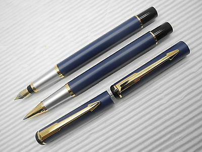 Blue Baoer 801 Fountain Pen/ Ball point pen with Converter (China)