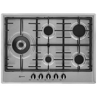 Neff T25S76N0 Built In 70cm 5 Burners Gas Hob Stainless Steel New