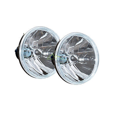 "Land Rover Defender New Crystal Clear 7"" Headlamps (X2) Halogen Rhd - Rtc4615C"