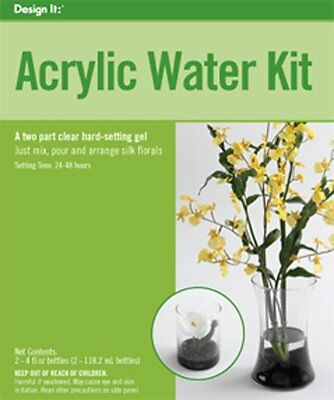FloraCraft Floral Accessories Acrylic Water Kit Two Part Clear, RSAWC/8/3 AOI