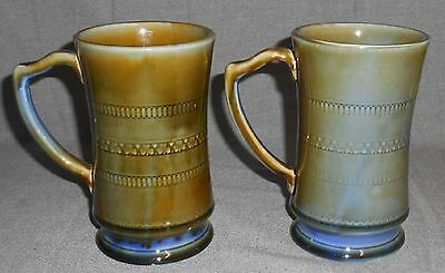 Set (2) Wade Irish Porcelain SHAMROCK PATTERN Tankards/Steins/Mugs IRELAND