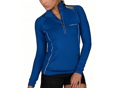 More Mile Vancouver Womens Thermal Hi-Viz Running / Gym / Exercise Top Blue