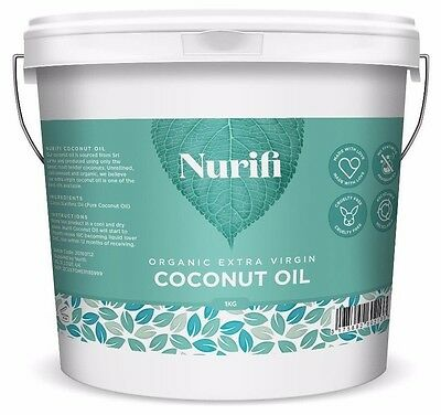 1KG Organic Extra Virgin Coconut Oil - Pure Raw & Cold Pressed INTRODUCTORY SALE