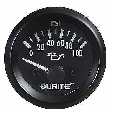 0-523-16 DURITE 12 VOLT 12V OIL PRESSURE DASHBOARD GAUGE & SENDER 52mm MARINE