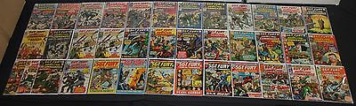 Vintage Marvel Silver to Bronze Age Sgt. Fury 37pc Mid Grade Comic Lot Avengers