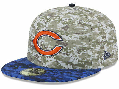Official 2015 Chicago Bears NFL Salute to Service New Era 59FIFTY Fitted Hat