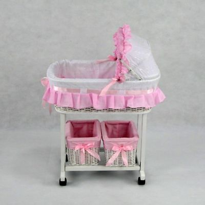 Regal Doll Carriages Julia Dolls Bed With 2 Tidies