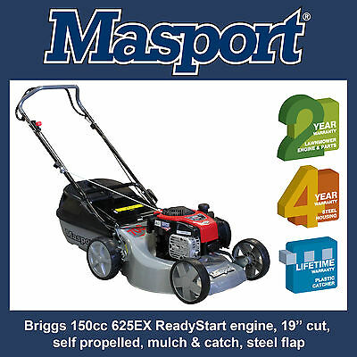 "Masport 700ST Self Propelled lawn mower, 150cc, 19"" cut, 4.12km/hr"