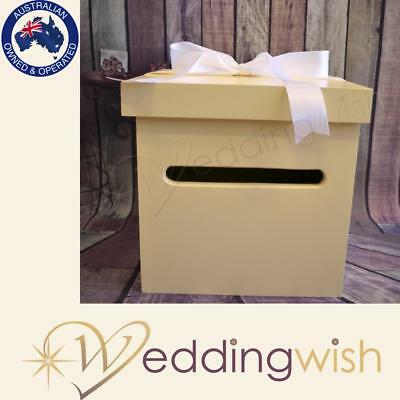 Ivory Wedding Wishing Well - wooden timber box - Engagement 21st card box