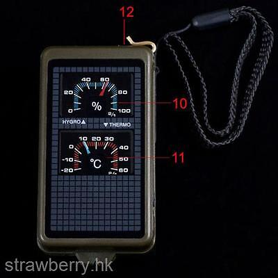 10 in 1 Function Compass for Outdoor Survival Camping Hiking Travel Equipment