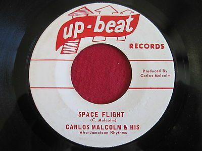 """CARLOS MALCOLM ~ SPACE FLIGHT/ WINGS OF A DOVE ~ UP-BEAT ~ RARE SKA 1960's 7"""" 45"""