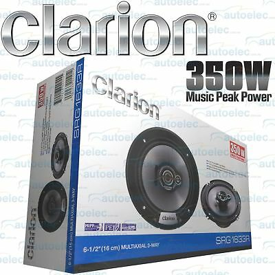 "Clarion Srgt1633R 350W Car Audio Stereo System Speakers Pair 160Cm 61/2"" 3-Way"