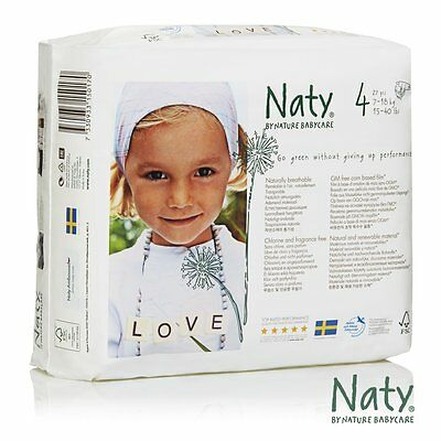 Nature Babycare Eco-Diapers Size 4 (4-pack) (244350) (Brand New) CXX