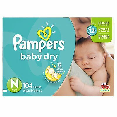 Pampers Baby Dry Diapers Size-N Super Pack (Brand New) CXX