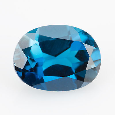 1.55 ct London Blue Topaz Oval cut 8.1x6.1 mm VS Natural loose gemstone