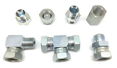 Hydraulic Adaptors Male & Female BSP Fittings BSPP *1st Class Post* - All Sizes