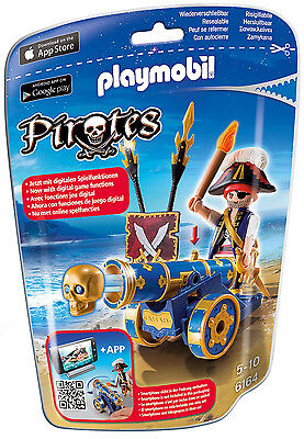 Playmobil - Pirates - 6164 - Blaue App-Kanone mit Piraten-Offizier - NEU OVP