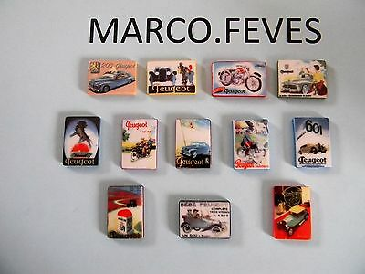 SERIE COMPLETE : PLAQUES EMAILLEES PEUGEOT  2015 ( bte 10 )