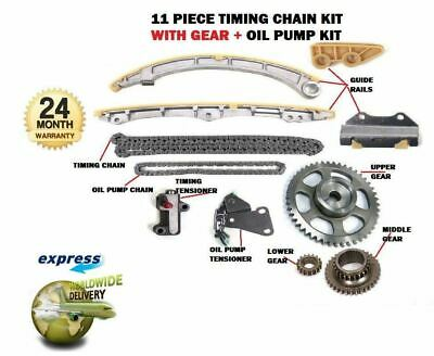 For Honda K20A6 K20A3 K20A4 K20A1 2001->New Timing Chain + Gears + Oil Pump Kit