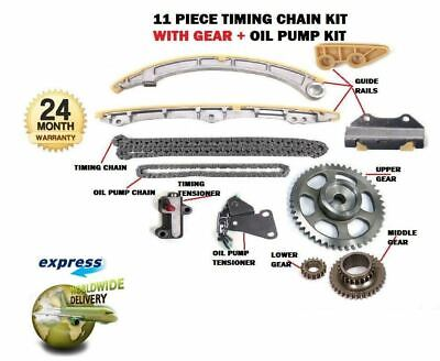 For Honda K20A6 K20A3 K20A4 K20A1 2001- New Timing Chain + Gears + Oil Pump Kit