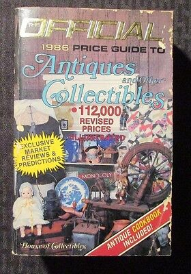 1986 Official Price Guide ANTIQUES & COLLECTIBLES 6th Ed. Paperback VG