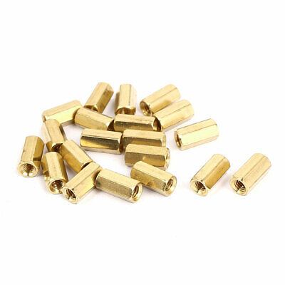 M4x12mm Brass Hex Hexagonal Female Threaded Standoff Spacer Pillars 20pcs