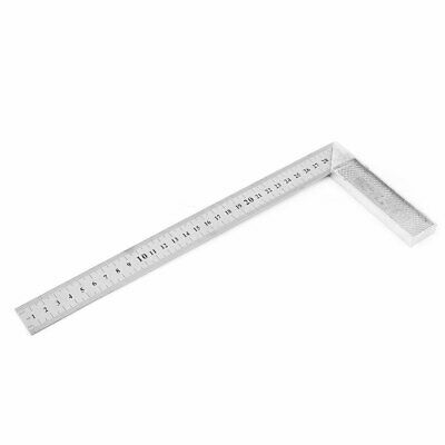 Metal L Shaped 0-30cm Scale Range Double Sides Angle Square Ruler Measuring Tool