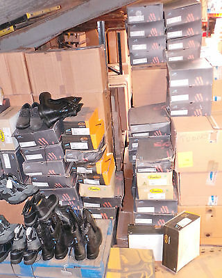 Joblot Pallet Safety Work Boots, Shoes, Trainers Leather Quality x 450 Pairs