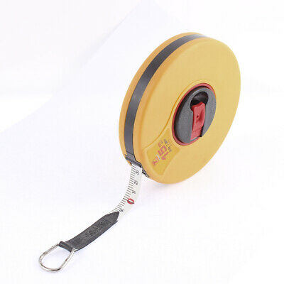Round Shaped Cover Dual Side 15M Length Range Metric Retractable Tape Measure