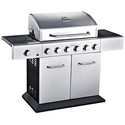 Outback Meteor 6 Burner Gas Barbecue BBQ with Free Regulator